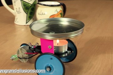 Candle Car Runs by Thermoelectric Effect